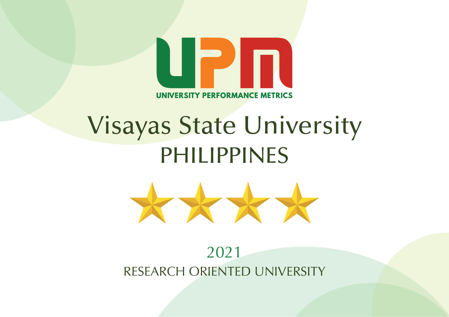VSU rating certificate