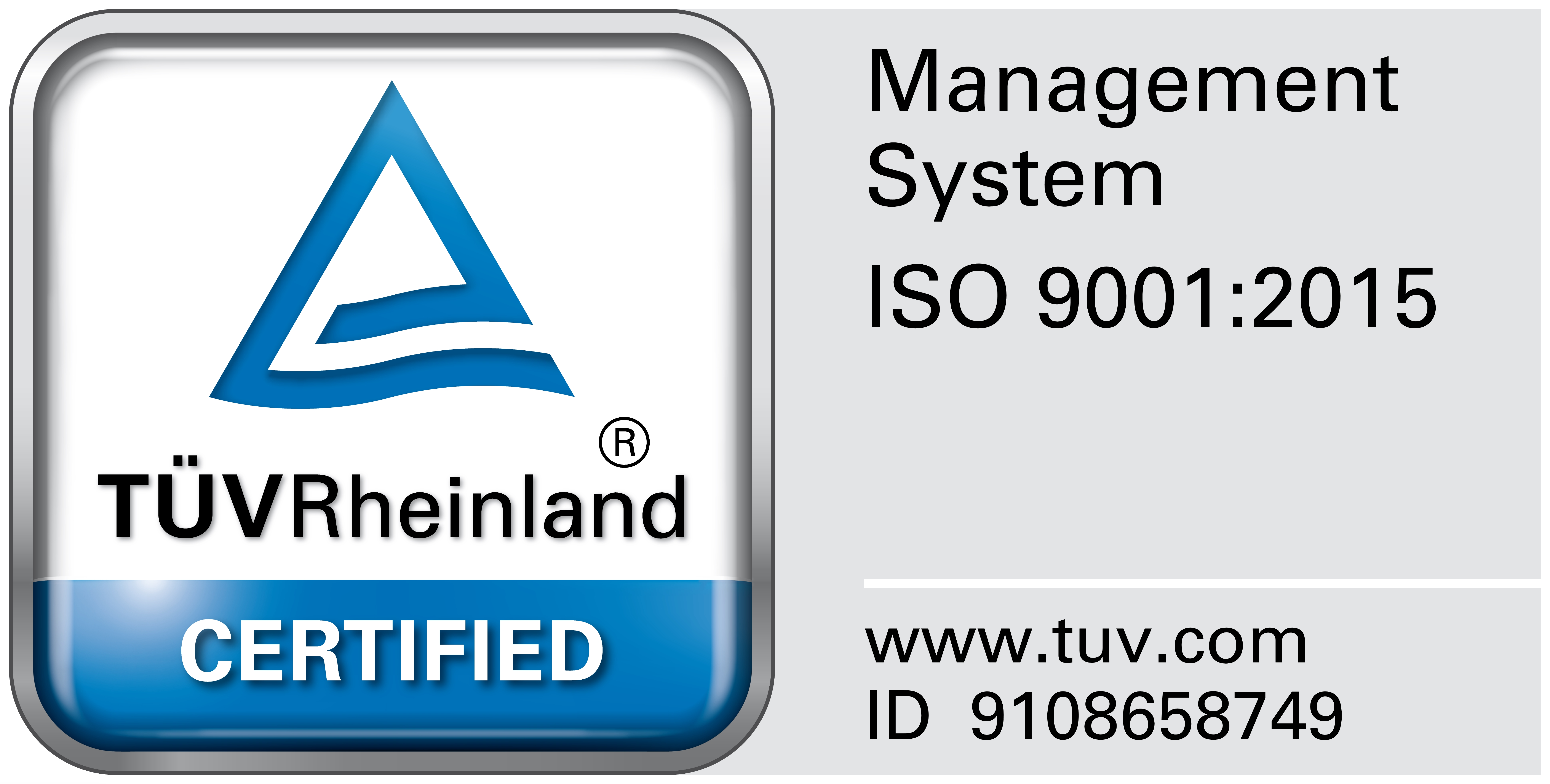 TUV Test Mark for ISO 9001