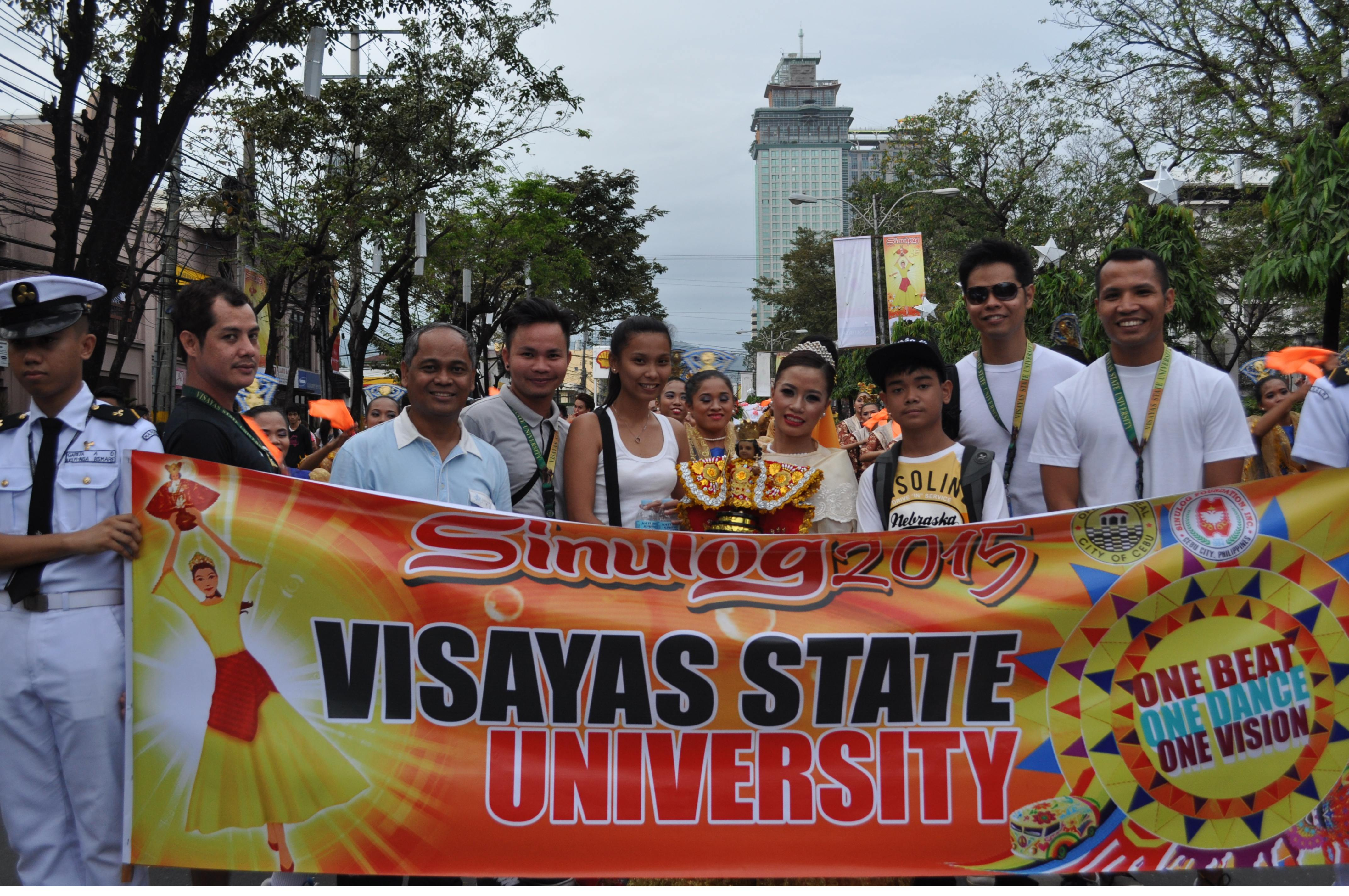 vsu mapeh major students perform in the sinulog 2015 launching